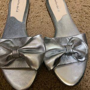 Cute silver slides